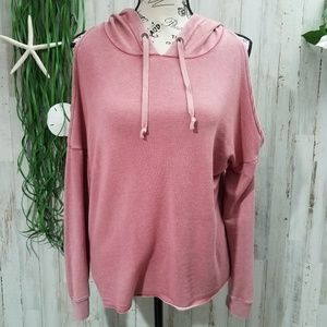 American Eagle Outfitters Cold Shoulder Hoodie
